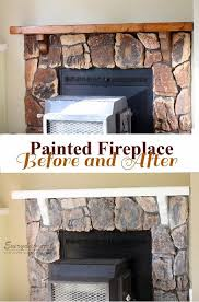 everyday art home update painted stone fireplace with painting stone fireplace white