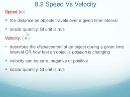 Speed Vs Velocity Ppt 8 2 Speed Vs Velocity Powerpoint Presentation Id 2626157