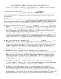 Free Vermont Standard Residential Lease Agreement Form - Pdf | Word ...