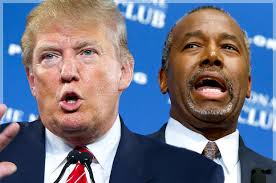 Image result for DONALD TRUMP AND BEN CARSON PHOTO