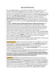 Niccolò Machiavelli - Vita e Opere - Docsity