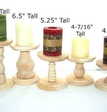 rustic wood candle holders smaller unfinished wooden pillar candlestick brilliant inspirations votive india little