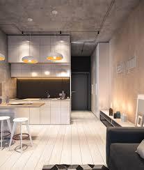 Black And White Studio Apartment Entryway Design