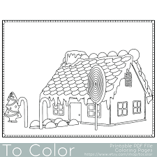 This Christmas Gingerbread House Coloring Page