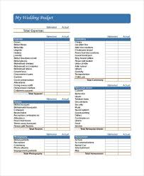 Budget Forms Pdf Wedding Budget Form Zoro Braggs Co