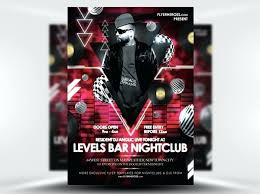 Levels Free Nightclub Flyer Template Design Templates Monster ...