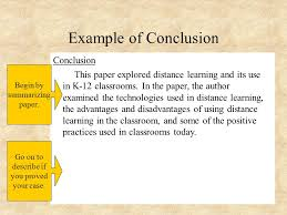finalizing the apa formatted research paper ted educational  example of conclusion conclusion this paper explored distance learning and its use in k 12