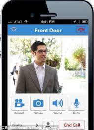 front door camera iphoneiDoorCam App Doorbell with camera and motion sensors shows whos