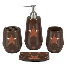 Copper Bathroom Accessories Sets Clearance Praying Cowboy At The Cross Vanity Set Cabin Place