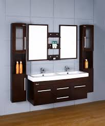 Double Bathroom Sink Cabinet Bathroom Adorable Color Wainscoting Tile Design Mixed With