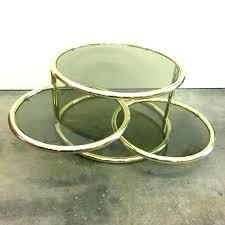 vintage glass coffee table vintage glass coffee table brass and glass coffee table small round by