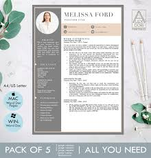 Modern Resume Template With Picture Illustrations Creative Market