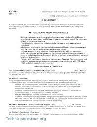 Sample Hr Generalist Resume Hr Resume Format Resume Human Resources