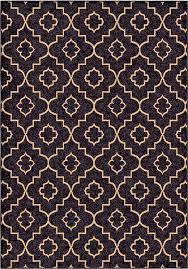 good quality outdoor indoor modern area rug black with beige trellis design