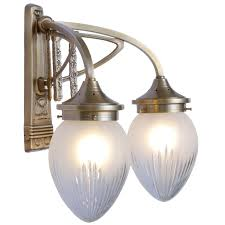 Reproduction Art Deco Light Fixtures Wall Lamp Art Nouveau With Two Arc Arms Casa Lumi