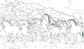 Coloring Pictures Horses Ourmississippimagcom