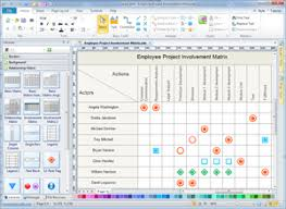 relationship matrix   project management chart solutionsrelationship diagram software