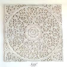wood carvings wall decor carved decorative lotus wood carving wall art panel reclaim teak texture trim