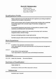 Example Of Profile In Resume Sample Profile In Resume Best Of Example For Student Sample Career 15