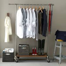 free standing clothes rack. Closet Clothes Rack Free Standing Garment Heavy Duty Wardrobe Rolling Ikea A