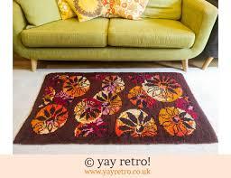 stunning vintage rug orange purple 59 50