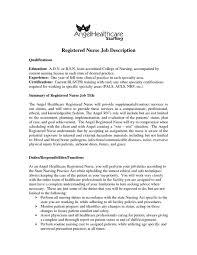 Registered Nurse Job Description For Resume School Nurse Job Description Resume Pleasant Labor And Delivery 17