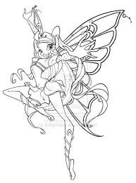 Winx Club Bloom Bloomix Coloring Pages Art Coloring Pages Fairy