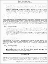 Construction Superintendent Resume Examples And Samples Free Download