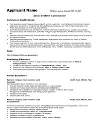 Junior System Engineer Sample Resume 17 Qualifications For Ginny