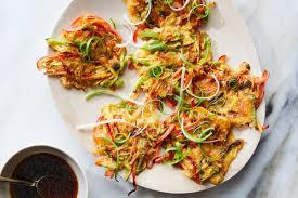 vegetable pajeon korean scallion