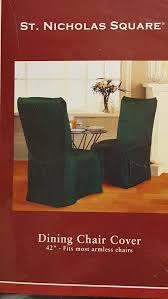 set of 4 st nicholas square dining chair cover 46 green fits most armless chairs new sealed for in san jose ca offerup
