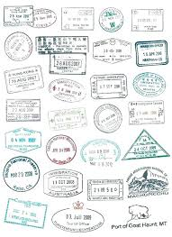 Stamps Template Passport Stamp Template