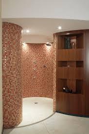 CHARISMA design sauna with shower.