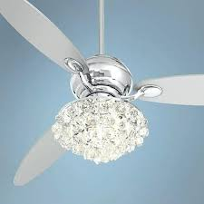 60 der chrome ceiling fan with crystal discs light kit 60 dera polished chrome ceiling fan with control polished