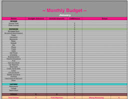 Monthly Yearly Budget Spreadsheets Diy Pinterest Budgeting