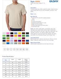 Gildan 50 50 Size Chart Gildan 50 50 T Shirts Dryblend Short Sleeve 8000 True To
