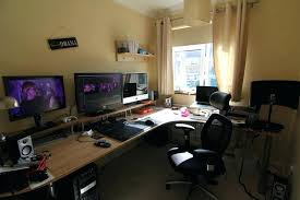 office computer setup. Office Computer Setup. Living Room Setup Charming Best Workspace Home Gaming Small .
