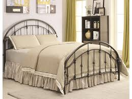 Iron Beds and Headboards Metal Curved Full Bed by Coaster at Dunk & Bright Furniture