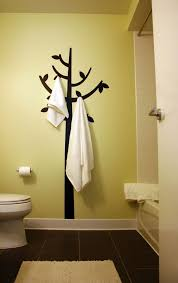 vinyl wall decals bathroom modern with none