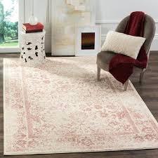 2 6 x 4 rug vintage distressed ivory rose rug x 4 2 6 x 4