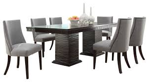 seven piece dining set: homelegance chicago  piece pedestal dining room set in deep espresso dining sets