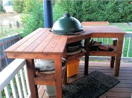 outdoor grill prep station shapes with storage