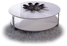 Coffee Table:Modern White Round Coffee Table Modern White Lacquer Round  Coffee Table Ono Modern