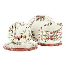 piece holiday heritage dinnerware sets