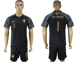 Goalkeeper Black Soccer World Portugal Patricio Jersey 2018 Fifa 1 Cup New England Patriots Pullovers