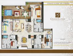 Spa Bedroom Floor Plans Grand Luxxe Residence