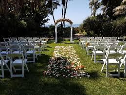 four seasons resort the biltmore santa barbara wedding ceremony at the mariposa gardens