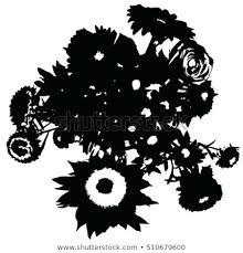 Stencil Vector Flowers Bellineorg