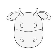 牛や雄牛動物顔漫画アイコン画像ベクトル イラスト デザインのイラスト