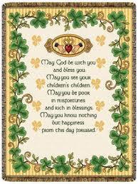 Irish Wedding Blessing Throw Blanket
